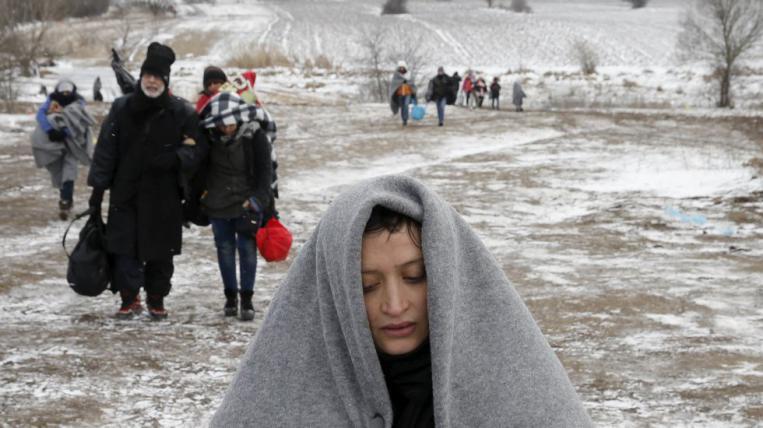 personas refugiadas en Grecia y los Balcanes