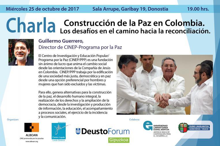 """Conferencia """"Construcción de la Paz en Colombia"""""""