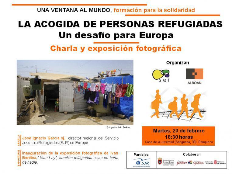 Charla y exposición en Pamplona sobre la acogida de personas refugiadas