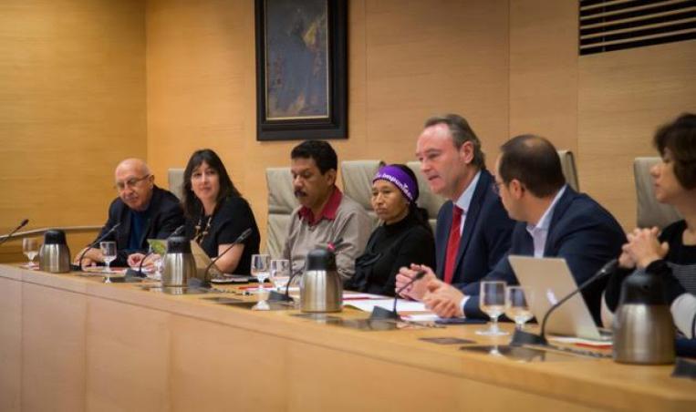 Consuelo Soto y Pedro Landa en Congreso Diputados