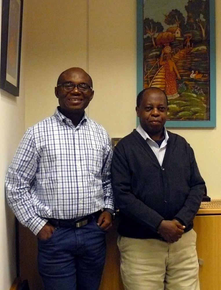 Charles Chilufya sj y Rigobert Minani sj