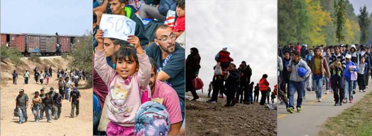 El Vía Crucis de miles de personas refugiadas y migrantes