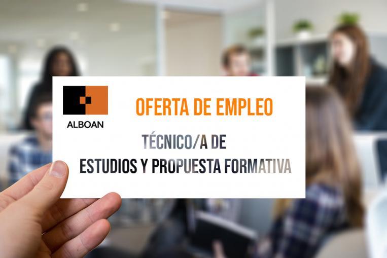 Oferta empleo: Técnica-o de Estudios y Propuesta formativa