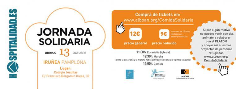 Jornada solidaria en Pamplona con personas migrantes y refugiadas