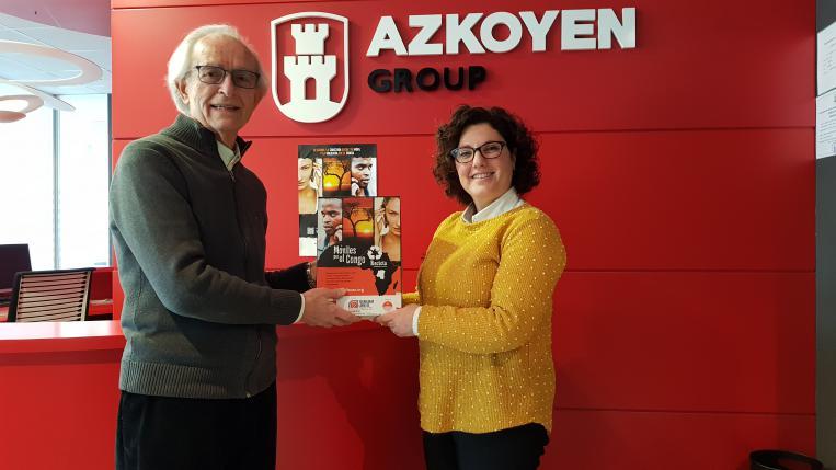 Grupo Azkoyen participa en la iniciativa Móviles por el Congo