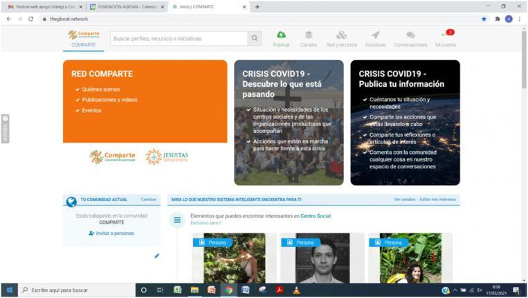 Urbegi ayuda a la red COMPARTE a crear una plataforma digital