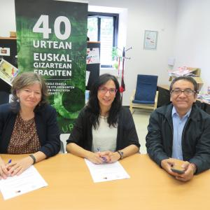 Firma Convenio Mondragon Unibertsitatea-ALBOAN