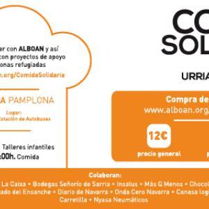 Jornada solidaria con las personas refugiadas en Pamplona