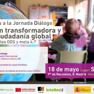 """Madrid, 18 de mayo. Jornada """"Educación Transformadora y para la Ciudadanía Global"""""""