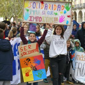 Pamplona se volcó con las personas migrantes