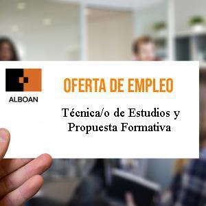 Oferta de empleo: Técnica/o de Estudios y Propuesta Formativa