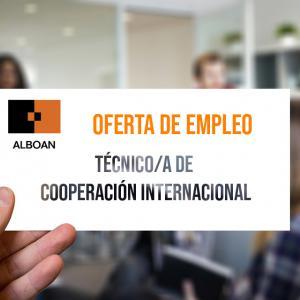 Oferta de empleo: Técnico/a de Cooperación Internacional