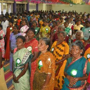 El equipo de Mutualia, por los derechos de las mujeres dalit en Tamil Nadu
