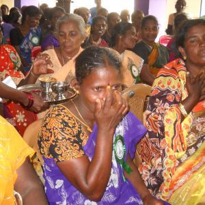 Mujeres viudas del Sur de la India
